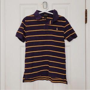 Polo by Ralph Lauren Striped Polo Shirt Purple 7